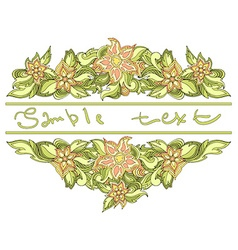 Spring background with place for text floral vector