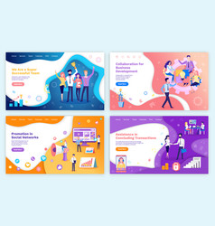 successful team collaboration and business vector image