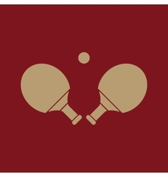 The table tennis icon ping pong symbol flat vector