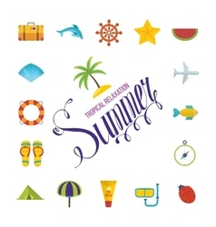 Tropical Summer holiday background vector