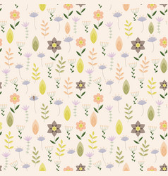 vintage pattern with little flowers vector image