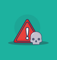 Warning sign icon vector