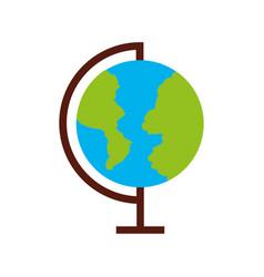 world planet school icon vector image
