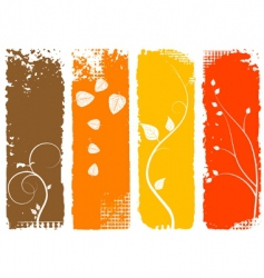 autumn background vertical banners set vector image vector image