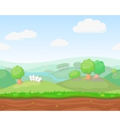 Cartoon cute country seamless horizontal vector image