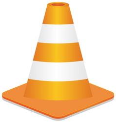 construction street cone vector image