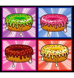Flavors Donut Melted vector image vector image