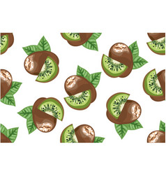 kiwi seamless pattern vector image vector image