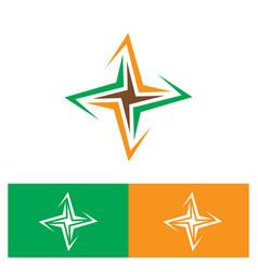 rectangular arrow spin business logo vector image