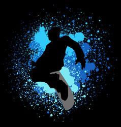 snowboarder vector image