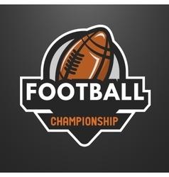 American football sports logo emblem vector image vector image