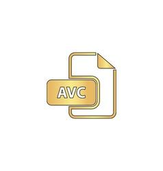AVC computer symbol vector image vector image