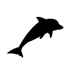 dolphin marine wildlife water animal silhouette vector image vector image
