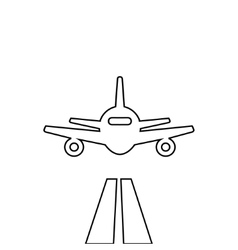 Flat lines plane vector image vector image