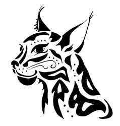 High quality lynx head tattoo vector image vector image