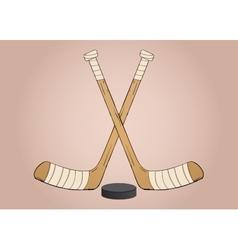 Ice hockey sticks vector image vector image