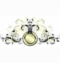 ornate banner vector image