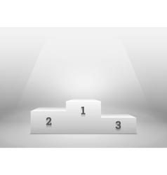 Pedestal for winners podium on white vector image