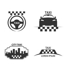 taxi logo vector image