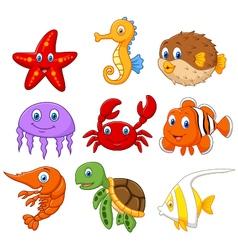 Cartoon fish collection set vector image vector image
