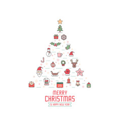christmas greeting card invitation or background vector image vector image