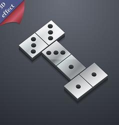 Domino icon symbol 3d style trendy modern design vector
