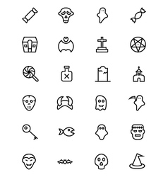 Halloween Line Icons 4 vector image vector image