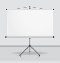 Presentation screen blank whiteboard vector image
