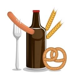 tradicional food oktoberfest festival design vector image