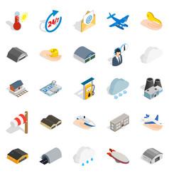 voyage icons set isometric style vector image