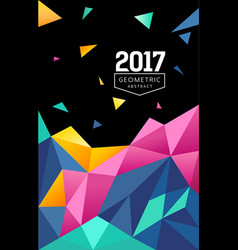 abstract colorful triangle geometric background vector image