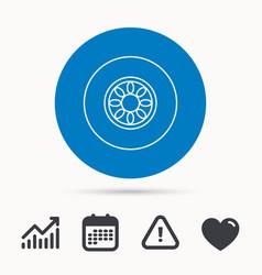 Car wheel icon automobile service sign vector