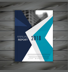 clean annual report brochure template design in vector image