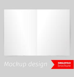 single fold brochure mockup design vector image vector image