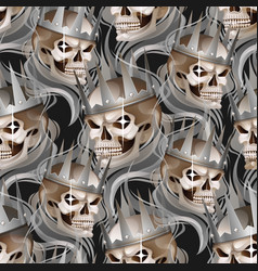 skull in the crown vector image vector image