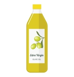 a bottle with olive oil vector image