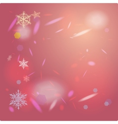 Abstract pink background card for Merry Christmas vector image