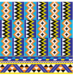 African tribal design kente nwentoma textiles vector