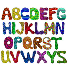 alphabet funny capital color vector image