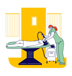 apparatus cosmetology lpg massage girl applying vector image