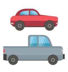 automobile transport car vehicle auto vector image