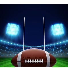 Ball and american football field eps 10 vector