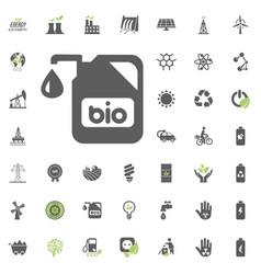 bio icon eco and alternative energy icon vector image