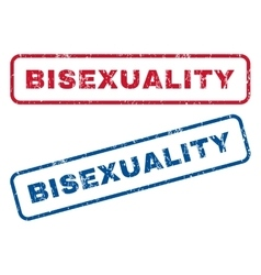 Bisexuality rubber stamps vector