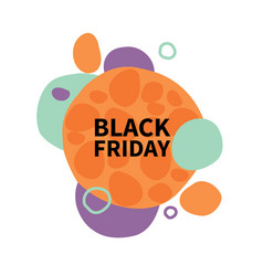 Bubble-black-friday vector