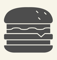 burger solid icon hamburger vector image