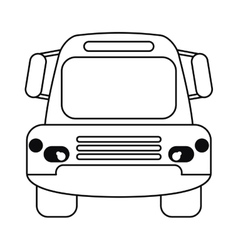 Bus public transport city front view outline vector