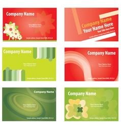 business card set vector vector image