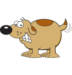 Cartoon Dog Wagging Tail vector image