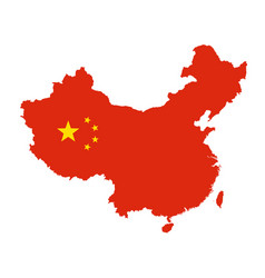 China map outline - silhouette of china state vector